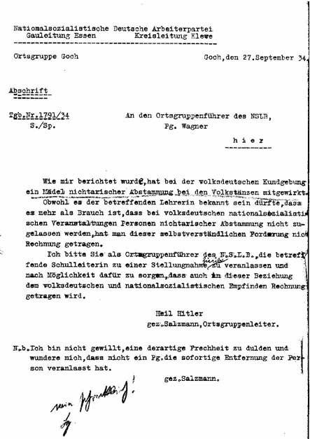Briefe B2 Beispiel : Ellenhoffmann auftrittsverbot